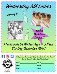 Wednesday AM Ladies League