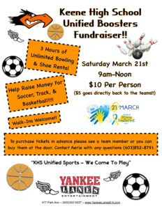 Keene High Unified Sports Booster Fundraiser